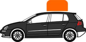 Basis Modell Basic zur magnetischen Autodach Werbung.