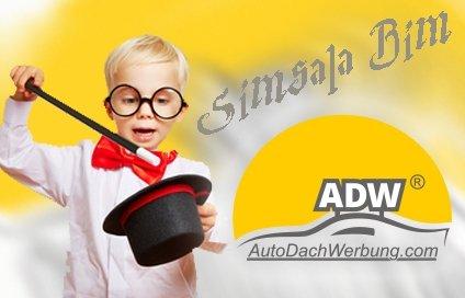 Auto-Dach-Werbung ist wie Magie.